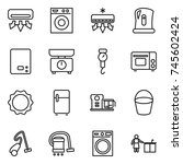thin line icon set   air... | Shutterstock .eps vector #745602424