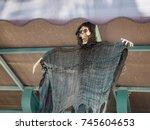 halloween skeleton decoration | Shutterstock . vector #745604653