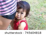 girl to to grieve  to sadden | Shutterstock . vector #745604818