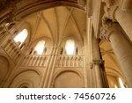caen   abbaye aux dames in... | Shutterstock . vector #74560726