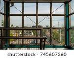 industrial interior design of... | Shutterstock . vector #745607260