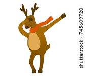 santa s reindeer vector