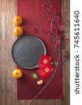Flat Lay Chinese New Year Food...