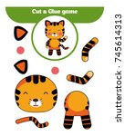 paper game for the development... | Shutterstock .eps vector #745614313