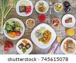 vegan food | Shutterstock . vector #745615078