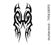 tattoo tribal vector design.... | Shutterstock .eps vector #745618093