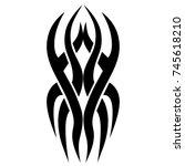 tattoo tribal vector design.... | Shutterstock .eps vector #745618210