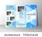brochure design template ... | Shutterstock .eps vector #745621618