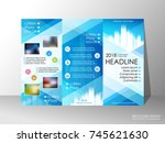 brochure design template ... | Shutterstock .eps vector #745621630
