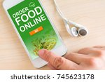 click to order food online on... | Shutterstock . vector #745623178