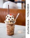 a refreshing milk chocolate... | Shutterstock . vector #745624804