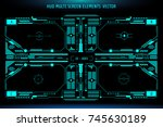 hud hologram futuristic... | Shutterstock .eps vector #745630189