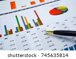 charts and graphs paper.... | Shutterstock . vector #745635814