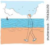 vector illustration abstract... | Shutterstock .eps vector #745636150