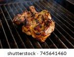 beef steak being cooked on the...   Shutterstock . vector #745641460