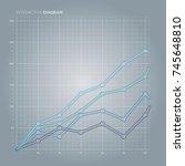 line chart. diagram. | Shutterstock .eps vector #745648810