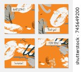 hand drawn creative universal... | Shutterstock .eps vector #745649200