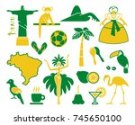 traditional symbols of culture... | Shutterstock .eps vector #745650100