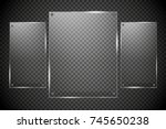 glass plates are installed.... | Shutterstock .eps vector #745650238