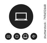 set of 5 editable laptop icons. ...