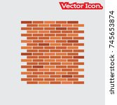 brick work icon isolated sign...   Shutterstock .eps vector #745653874