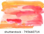 watercolor background | Shutterstock . vector #745660714