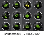 kitchen professional web icons... | Shutterstock .eps vector #745662430