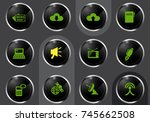 communication professional web... | Shutterstock .eps vector #745662508