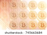 bitcoin is a gold coin. the... | Shutterstock . vector #745663684