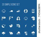 set of 20 editable weather...
