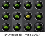 mail vector icons for user... | Shutterstock .eps vector #745666414