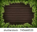 wooden background with... | Shutterstock .eps vector #745668520
