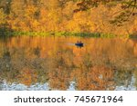 golden autumn | Shutterstock . vector #745671964