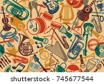 seamless background with... | Shutterstock .eps vector #745677544