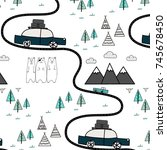 pattern with adventure concept. | Shutterstock .eps vector #745678450