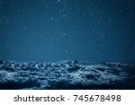 backgrounds night sky with... | Shutterstock . vector #745678498