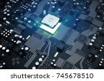 circuit board. technology... | Shutterstock . vector #745678510
