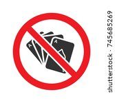 forbidden sign with playing... | Shutterstock .eps vector #745685269