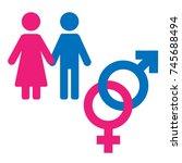 gender symbol set. male female... | Shutterstock .eps vector #745688494