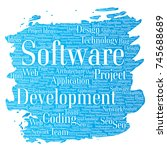 conceptual software development ... | Shutterstock . vector #745688689