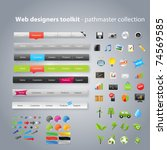 web designers toolkit  ... | Shutterstock .eps vector #74569585