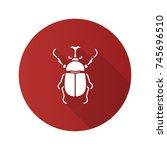 hercules beetle flat design... | Shutterstock .eps vector #745696510