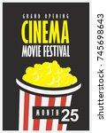 vector movie festival poster... | Shutterstock .eps vector #745698643