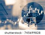 data analyzing in forex ... | Shutterstock . vector #745699828