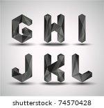 trendy black fractal geometric... | Shutterstock .eps vector #74570428