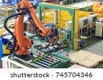 factory 4.0 concept. industrial ... | Shutterstock . vector #745704346