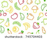 seamless background with...   Shutterstock .eps vector #745704403