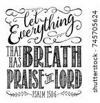 christian vector biblical... | Shutterstock .eps vector #745705624