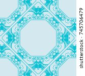 decorative lace frame. seamless ... | Shutterstock .eps vector #745706479