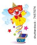 the clown surprise | Shutterstock .eps vector #7457074